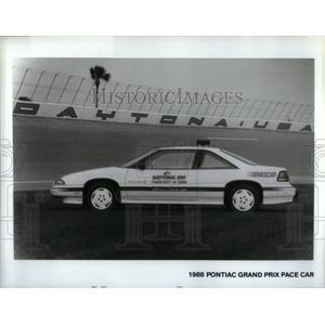 1988 Press Photo Pontiac Grand Prix Pace Car - RRX55029