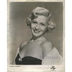 1951 Press Photo Marilyn Maxwell Actress - RSC78757