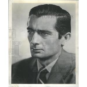 1954 Press Photo Character Actor Royal Dano The Man Behind The Badge Movie