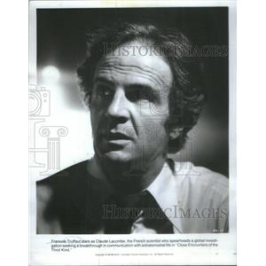 "1977 Press Photo Actor Francois Truffaut stars in ""Close Encounters of the Third"