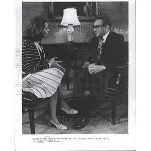 1977 Press Photo Barbara Walters Henry Kissinger Interview - RSC79533