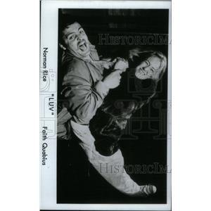 """1970 Press Photo Norman Rice & Faith Quabius in """"LUV."""" - RRX45449"""