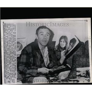 1966 Press Photo Jack Lemmon Elaine May Movie Luv - RRW07537