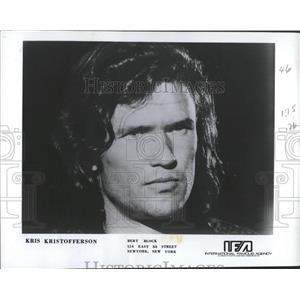 1971 Press Photo Kris Kristofferson Actor Musician - RRX84929