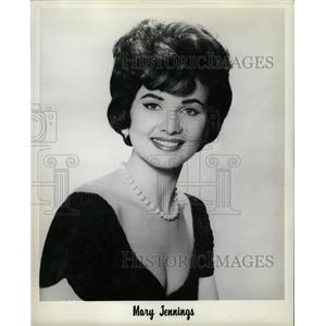 1964 Press Photo Mary Jennings Model Actress Athlete - RRW09243