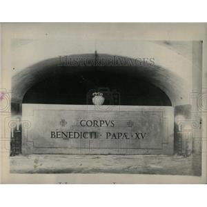 1922 Press Photo Final Resting Place Late Pontiff Bened