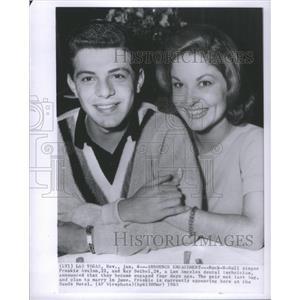 1963 Press Photo Frankie Avalon Kay Deibel Engagement - RSC68957