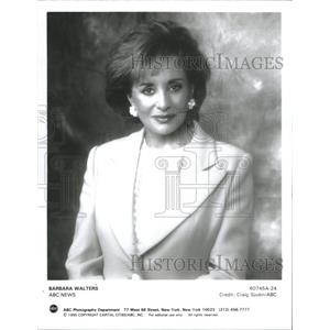 Press Photo Barbara Walters Television Hostess Personality - RSC79543
