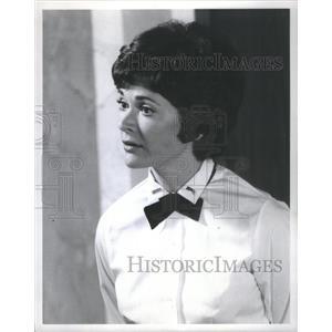 1974 Press Photo Actress Walter Wearing Cater Waitress Uniform Scene - RSC79583