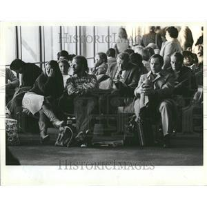 1983 Press Photo O'Hare Airport Waiting Area - RRV43955