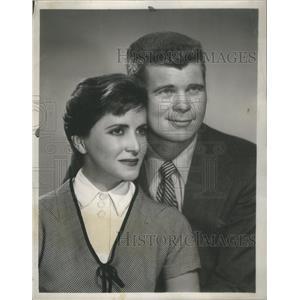 1952 Press Photo Bart Adams Actor Teresa Celli Actress The Moon Is Blue