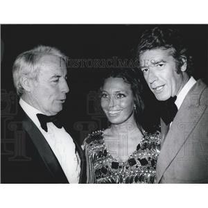 1974 Press Photo Actor Johannes Heesters, Anke Bobbert & Rudi Carell
