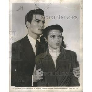 1949 Press Photo Gar Moore Donna Martell Film Actors - RSC79845