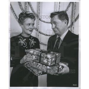1954 Press Photo Stu Erwin June Collyer Actors Show ABC - RSC81793