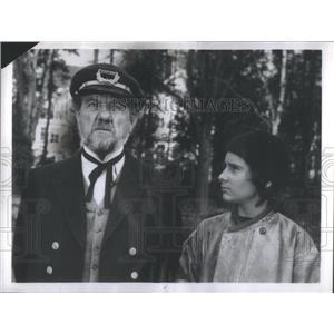 1977 Press Photo Actor Karl Malden Johnny Doran Captains Courageous TV Movie