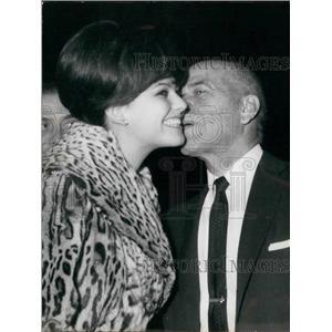 Press Photo Actress Claudia Cardinale and director Frank Capra. - KSB15335