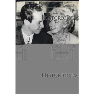 1942 Press Photo Actress Lana Turner And Stephen Crane Wed In Vegas Hotel