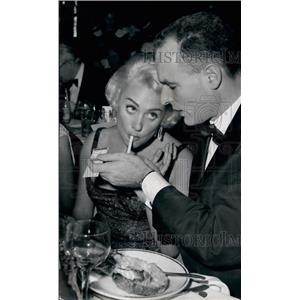 1959 Press Photo Actress MarleneCarol and her husband - KSB34773