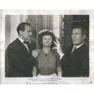 1947 Press Photo Scared To Death Film Actors Fowley Blake Pendleton Scene