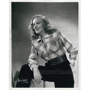 1948 Press Photo Martha McCain Actress Meet The Meeks And Doctors Today