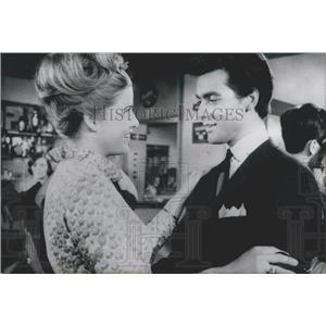 1965 Press Photo Hans Jurgen Baumler Skater Actor Johanna Matz Actress Film
