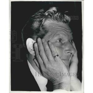 1955 Press Photo Danny Kaye Actor Reception Dorchester Hotel London Palladium