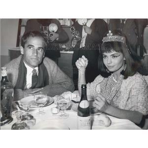 1962 Press Photo Actress Gianni Esposito and fianceGeorge Ardisson - KSB04323