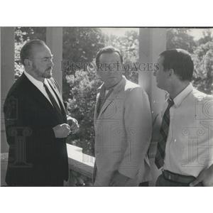 1964 Press Photo Actors Eddie Constantine,Pierre Brasseur ,son Claude Brasseur