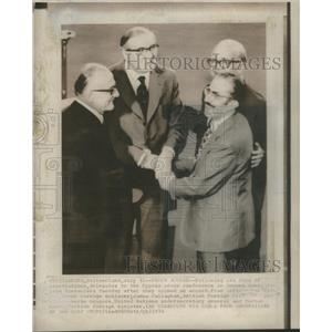 1974 Press Photo George Mavros James Callaghan Cyprus Peace Conference Geneva