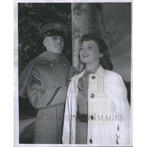 1956 Press Photo West Point Series Actors May Loughery Filming - RSC80343