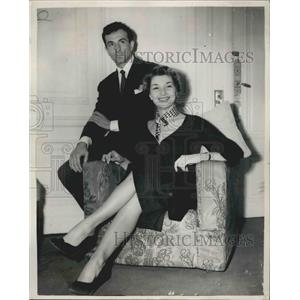 1953 Press Photo French Ballerina and Actress Colette Marchand - KSB02007