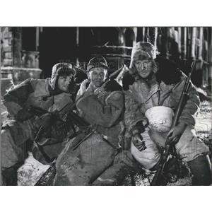 1959 Press Photo Joachim Hansen, Horst Frank Peter Carston in a film scene