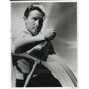 1936 Press Photo Spencer Tracy At Helms Wheel - XXB01773