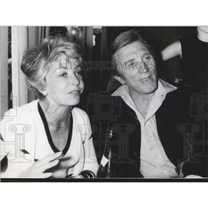 Press Photo Hollywood star Kirk Douglas and wife Anne at 60th Birthday
