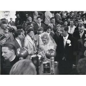 1957 Press Photo Movie-actress maria Schell weds movie-director Horst Haechler