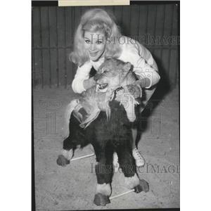 1963 Press Photo Cairo Circus Lion five months old Birgit Bergen