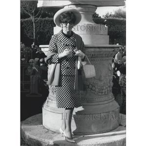 1966 Press Photo Gina Lollobrigida Italian Actress Reception Querinale Garden