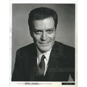 1965 Press Photo Actor Sergio Fantoni