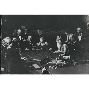 1936 Press Photo gaming table at International Sporting Club in Monte Carlo
