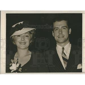1940 Press Photo movie star Richard Greene and his wife, actress Virginia Field