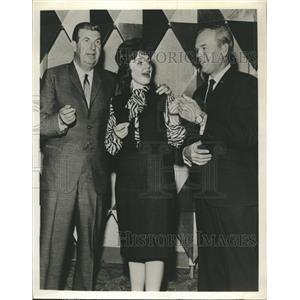 1963 Press Photo Don McNeill Mary Anne Luckett Woody Woodbury On Breakfast Club