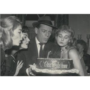 1957 Press Photo Actor Eddie Constantine,D Patinson,G Andre & L Brousse