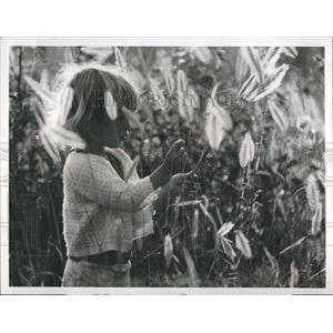 1974 Press Photo Sara Douglas Hamilton Actress WE LIVE WITH ELEPHANTS