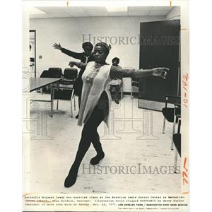 1975 Press PhotoButterfly McQueen Leads Exercise At Beatrice Lewis Senior Center