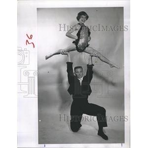 1961 Press Photo Dancers Raymond and sister Ann Marie McGeehan.