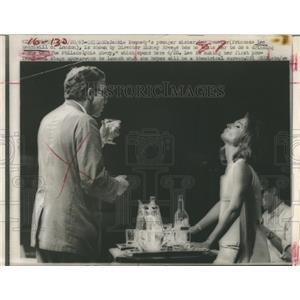1967 Press Photo Jackie Kennedy's Sister Lee Bouviar with Director Sydney Bree