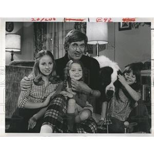1969 Press Photo Fess Parker actor 4 Funny Families