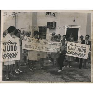 1966 Press Photo Judo champion 9 yr old Mark McGarry in Florida - RSH98019