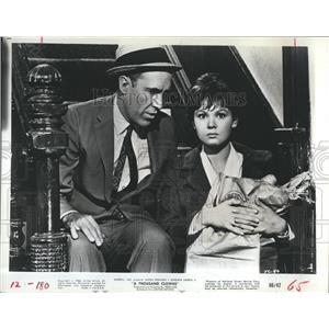 1966 Press Photo Jason Richards Barbara Harris Television Actor - RSH98373