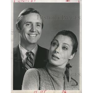 "1969 Press Photo Joe Daly  & Rita Gam star in ""Hidden Faces"""